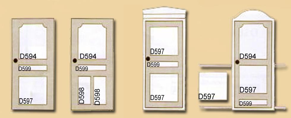 варианты оформления дверного полотна